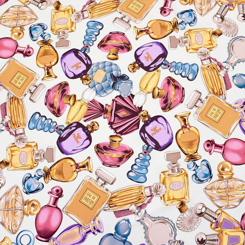 パフュームボトル (CM7-012) Marcaオリジナル 大判 シルクツイル スカーフの画像4