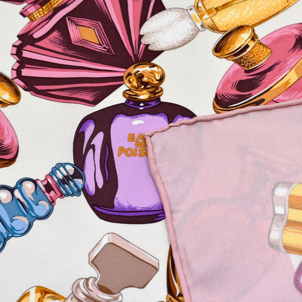 パフュームボトル (CM7-012) Marcaオリジナル 大判 シルクツイル スカーフの画像6
