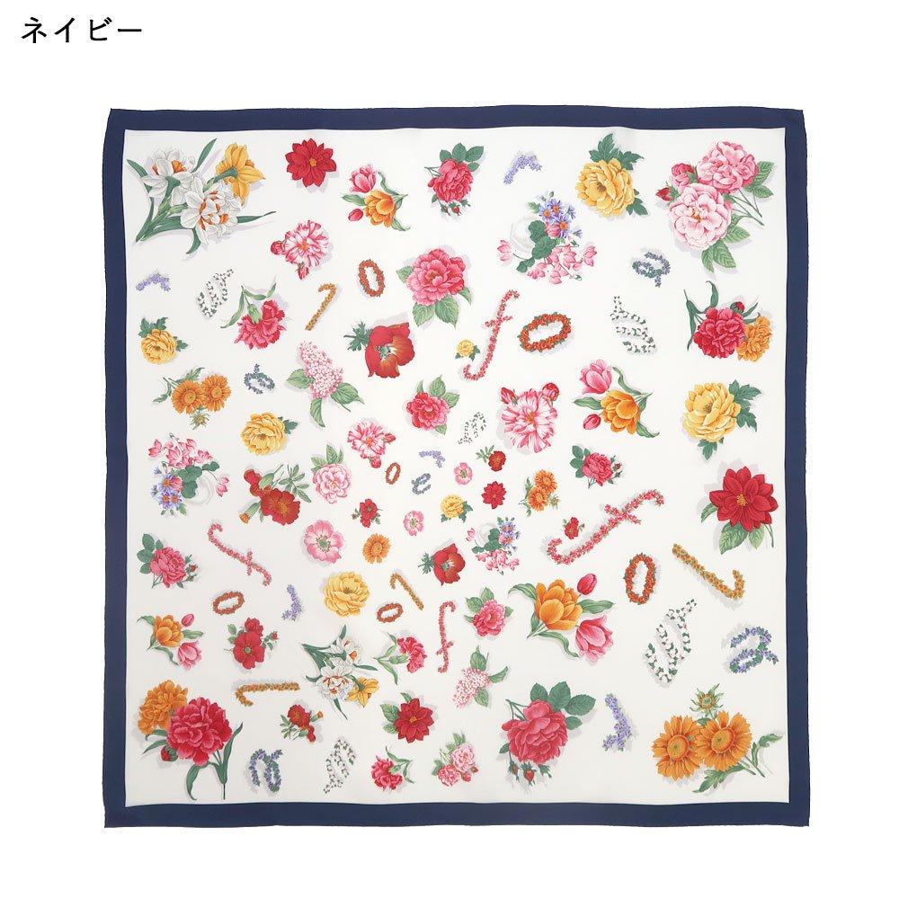 花ブローチ (CM6-036) Marcaオリジナル 大判 シルクツイル スカーフの画像1