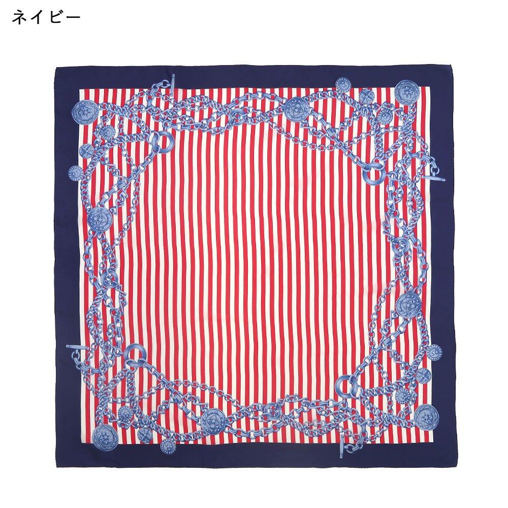 チェーンストライプ(CEK-006) Marcaオリジナル 大判 シルクデシン スカーフの画像3