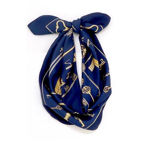 ディスプレイキー (CE0-502) Marcaオリジナル 大判 シルクツイル スカーフ