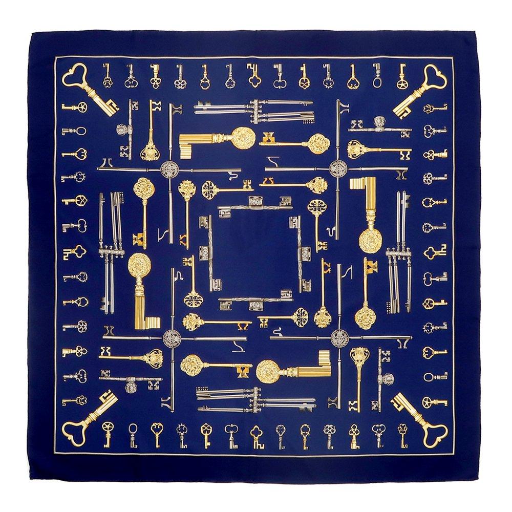 ディスプレイキー (CE0-502) Marcaオリジナル 大判 シルクツイル スカーフの画像2