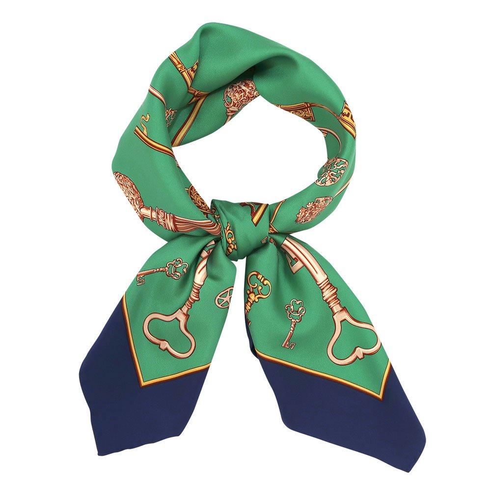 ディスプレイキー (CE0-502) Marcaオリジナル 大判 シルクツイル スカーフの画像3