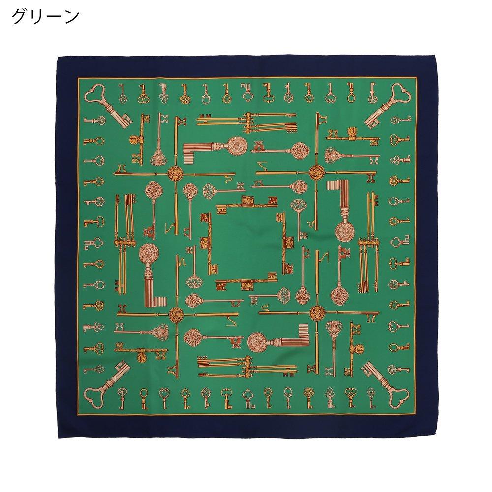 ディスプレイキー (CE0-502) Marcaオリジナル 大判 シルクツイル スカーフの画像5