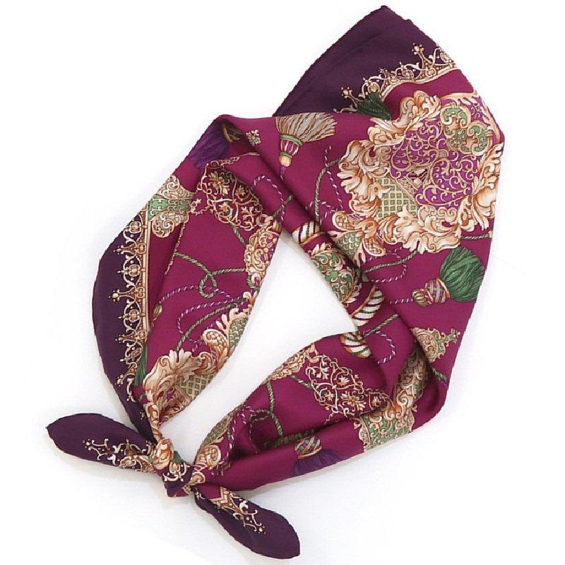 オーナメントタッセル(CM2-462)  Marcaオリジナル 大判 シルクツイル スカーフ