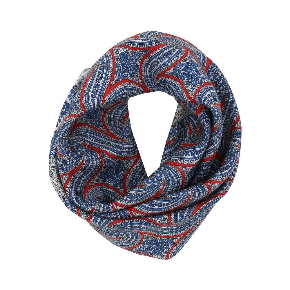 手裏剣ペイズリー(CM5-416) Marcaオリジナル 大判 シルクツイル スカーフ