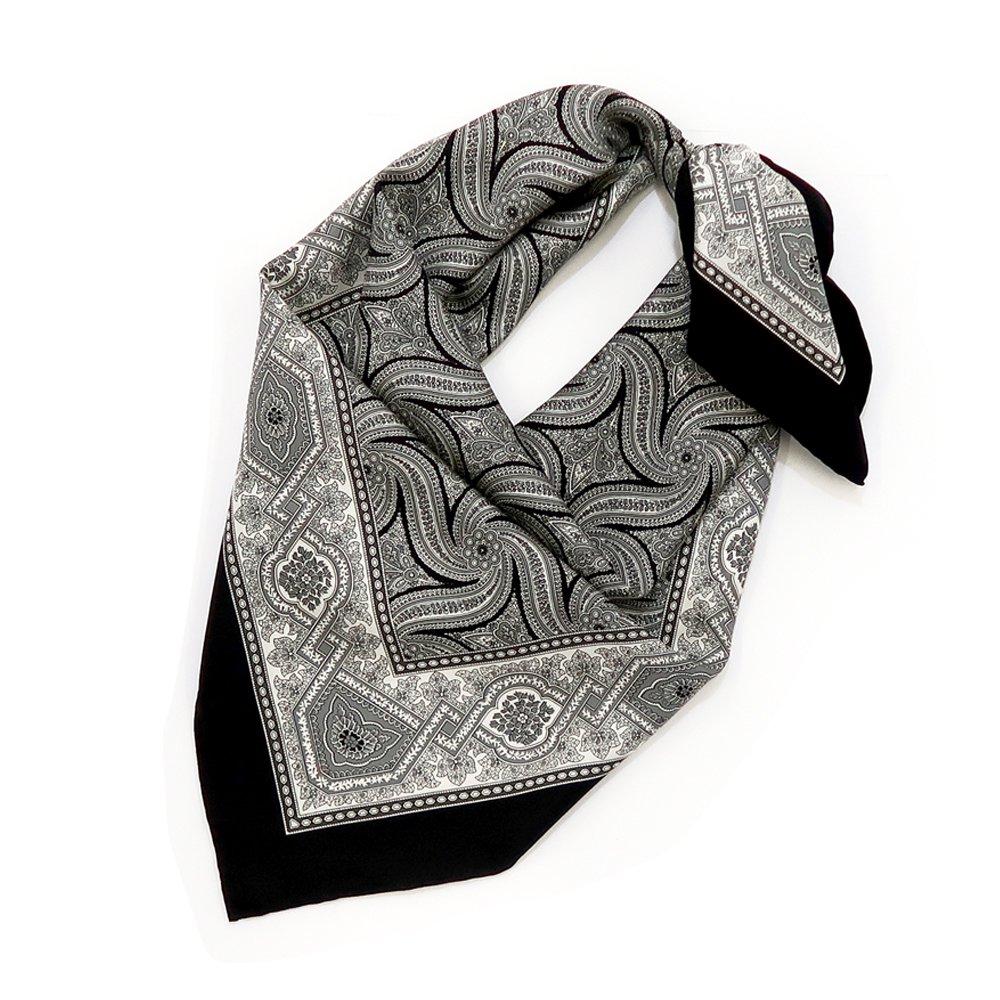 手裏剣ペイズリー(CM5-416) Marcaオリジナル 大判 シルクツイル スカーフの画像1