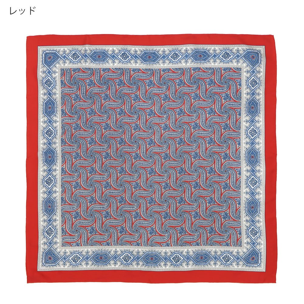 手裏剣ペイズリー(CM5-416) Marcaオリジナル 大判 シルクツイル スカーフの画像3