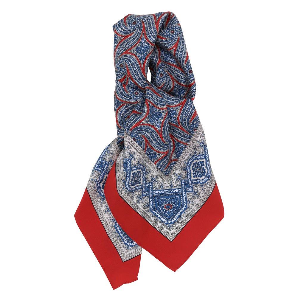 手裏剣ペイズリー(CM5-416) Marcaオリジナル 大判 シルクツイル スカーフの画像4