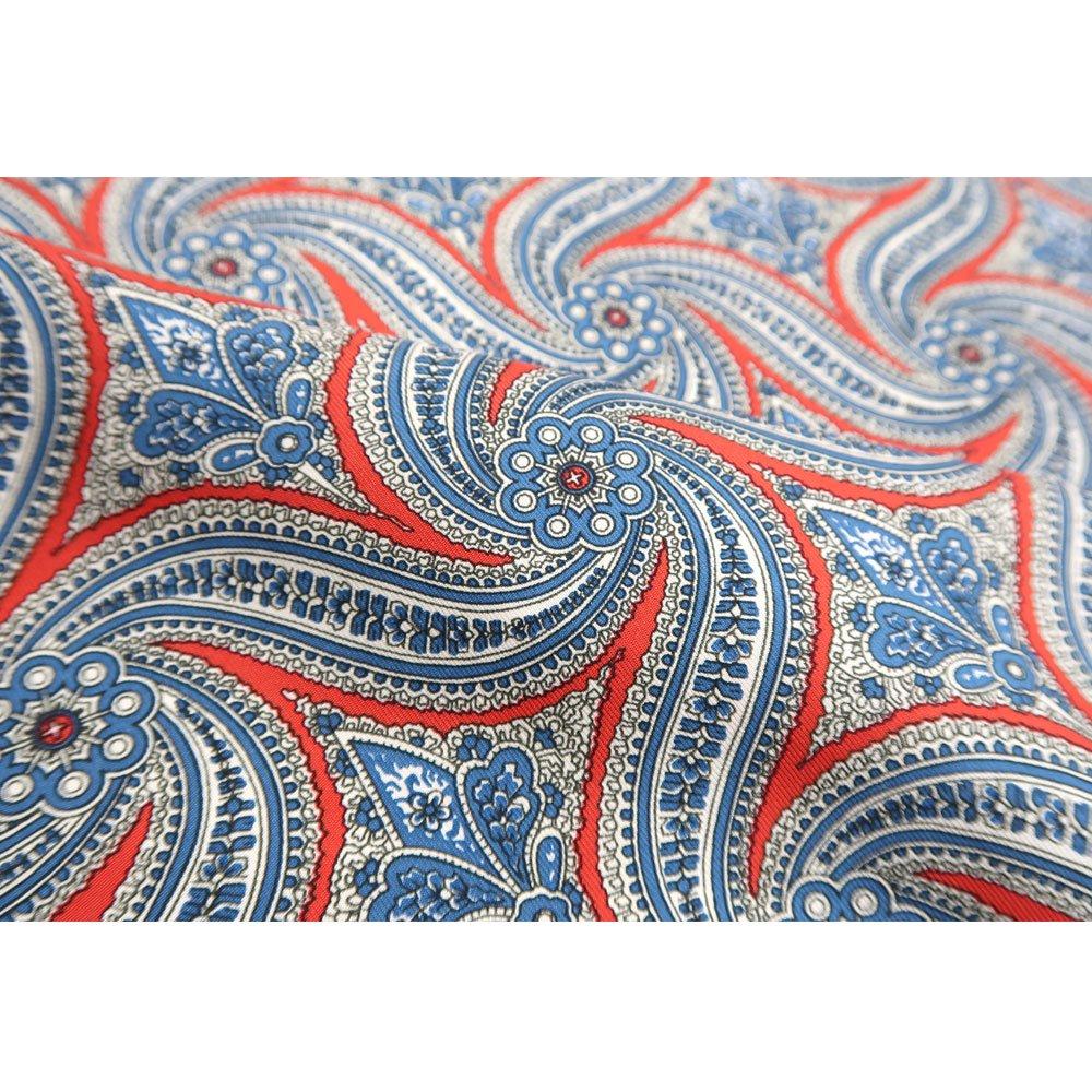 手裏剣ペイズリー(CM5-416) Marcaオリジナル 大判 シルクツイル スカーフの画像7