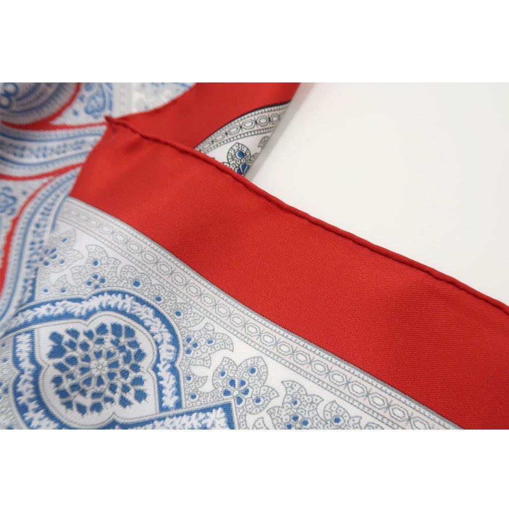 手裏剣ペイズリー(CM5-416) Marcaオリジナル 大判 シルクツイル スカーフの画像8