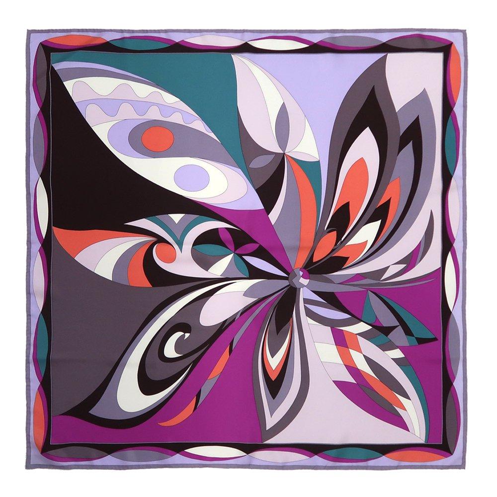 ジオメトリックフラワー(CGD-023) Marcaオリジナル 大判 シルクツイル スカーフの画像5