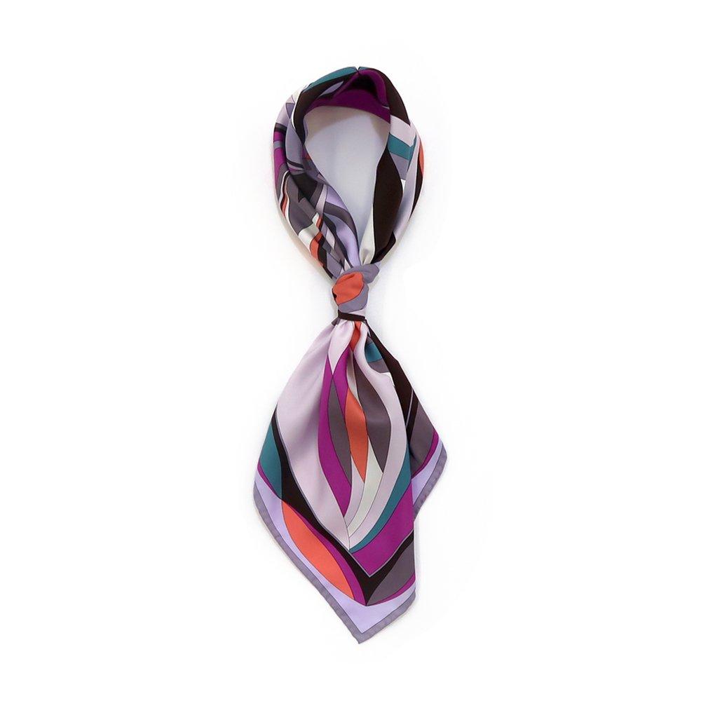 ジオメトリックフラワー(CGD-023) Marcaオリジナル 大判 シルクツイル スカーフの画像6