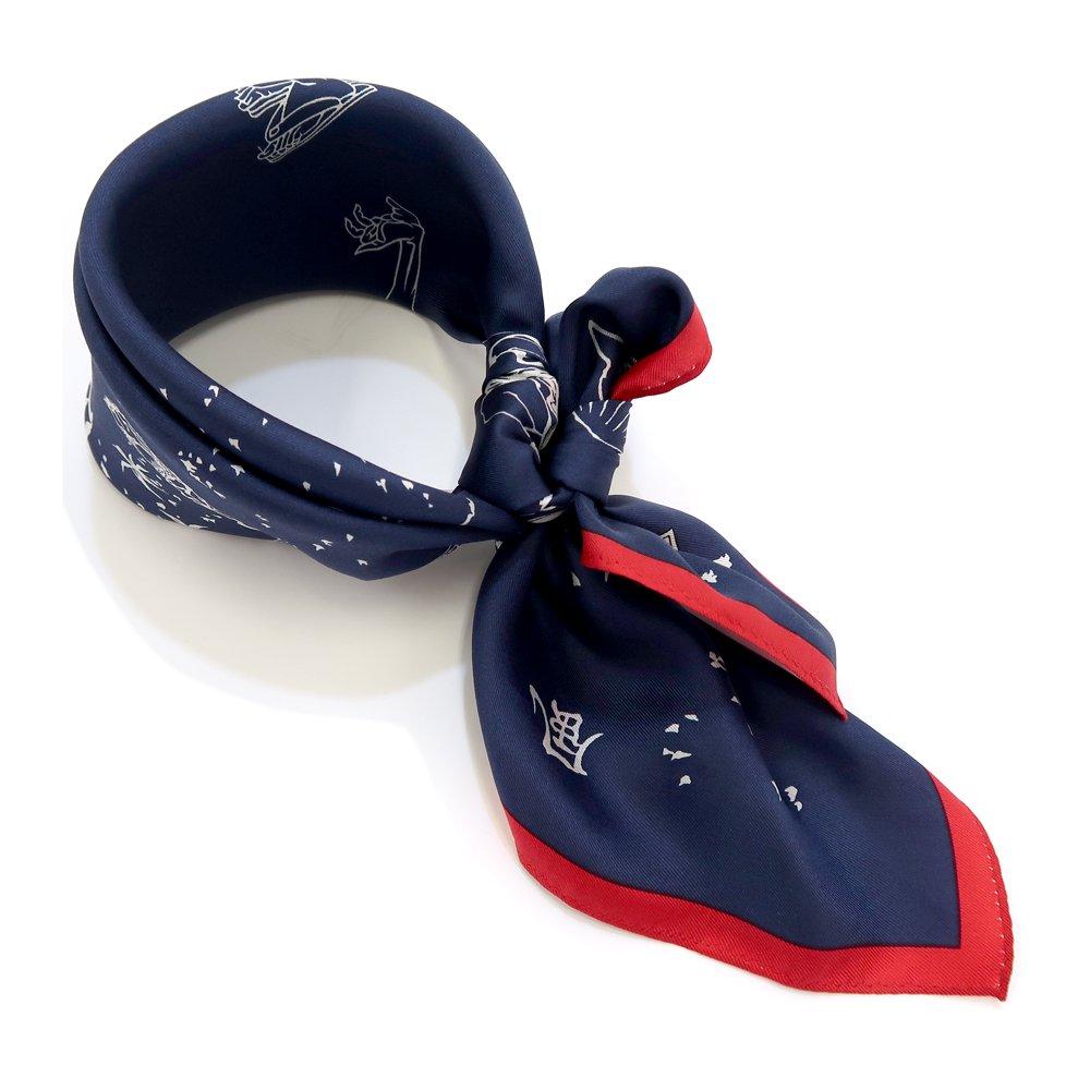 風のいたずら(BMS-008) 葛飾北斎 Marcaオリジナル 小判スカーフ シルクツイルの画像4