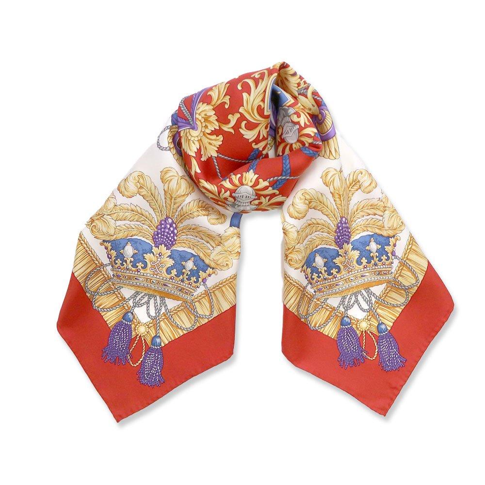 羽根冠(CM2-461) Marcaオリジナル 大判 シルクツイル スカーフ
