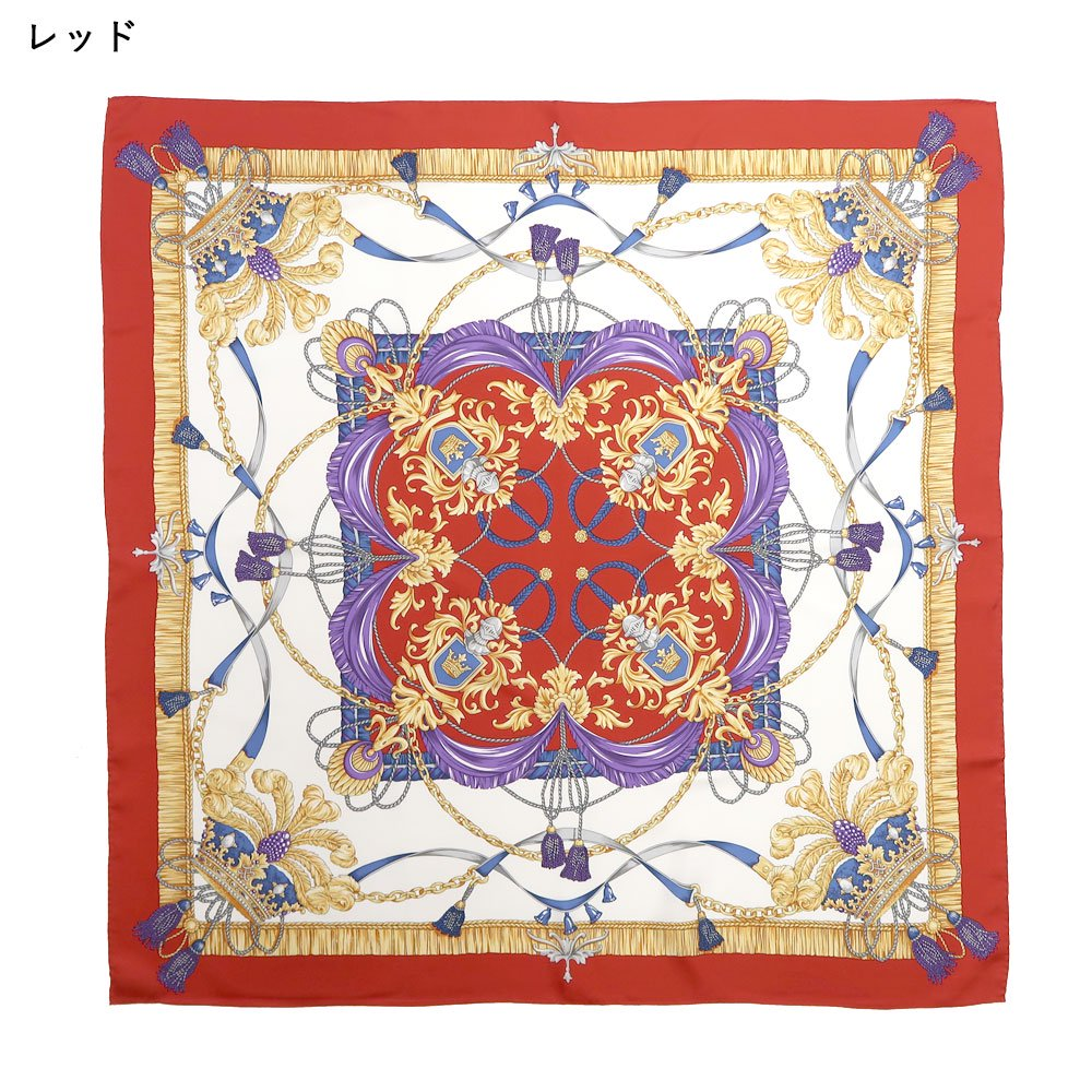 羽根冠(CM2-461) Marcaオリジナル 大判 シルクツイル スカーフの画像1
