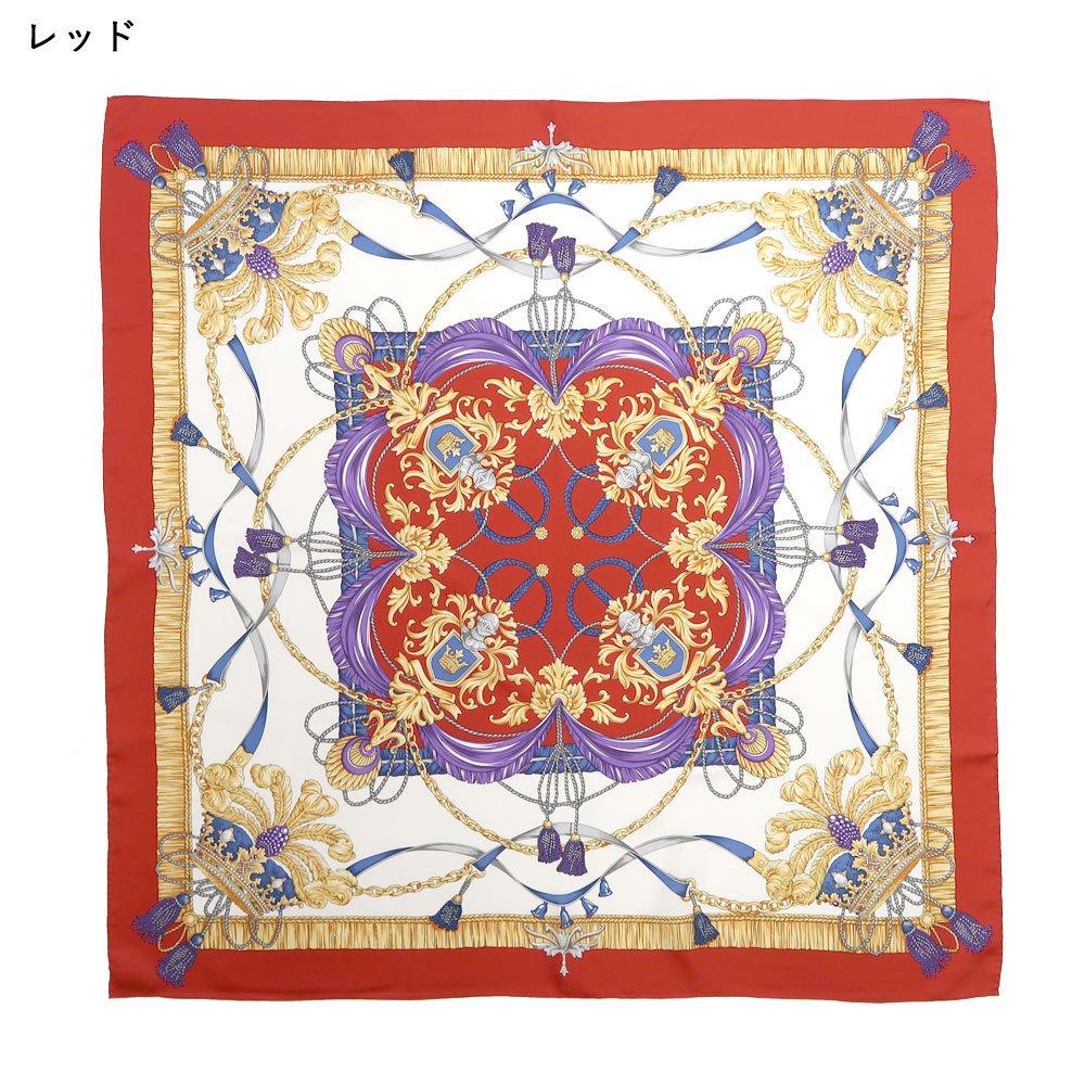 羽根冠(CM2-461) Marcaオリジナル 大判 シルクツイル スカーフの画像2