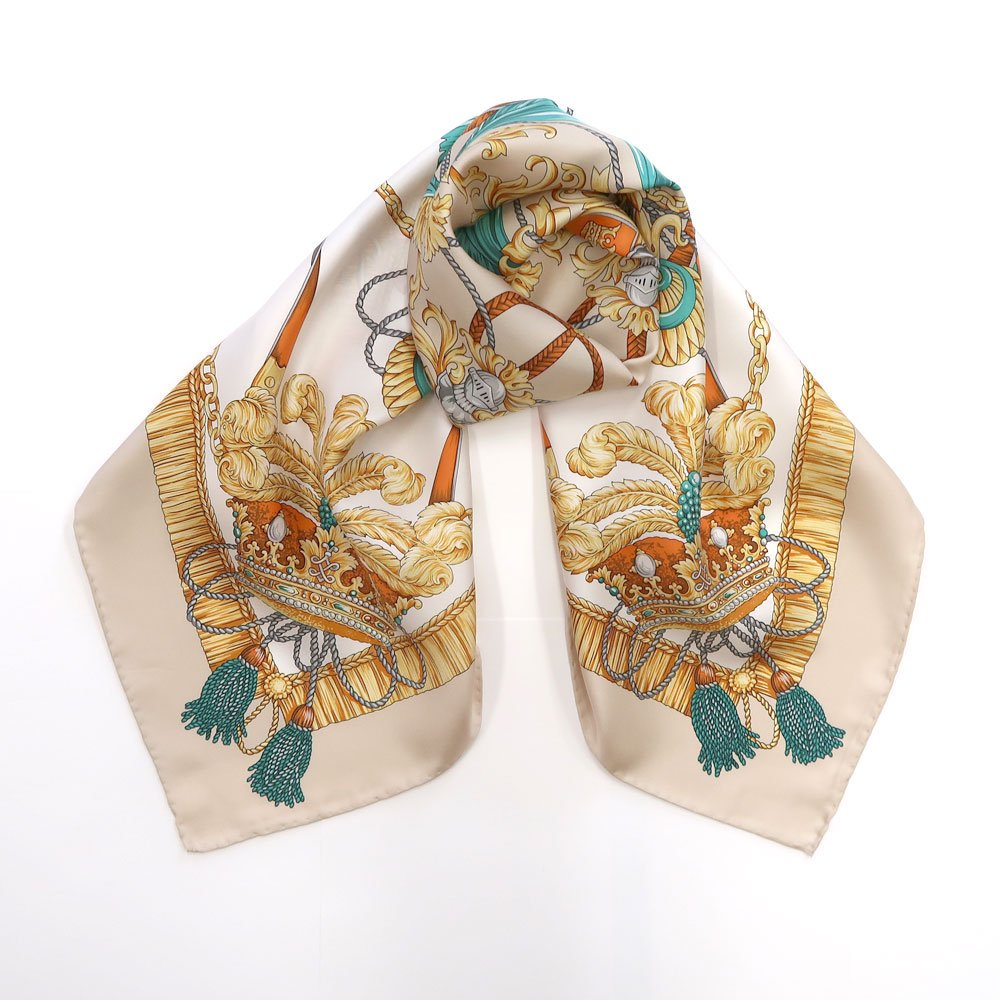羽根冠(CM2-461) Marcaオリジナル 大判 シルクツイル スカーフの画像3