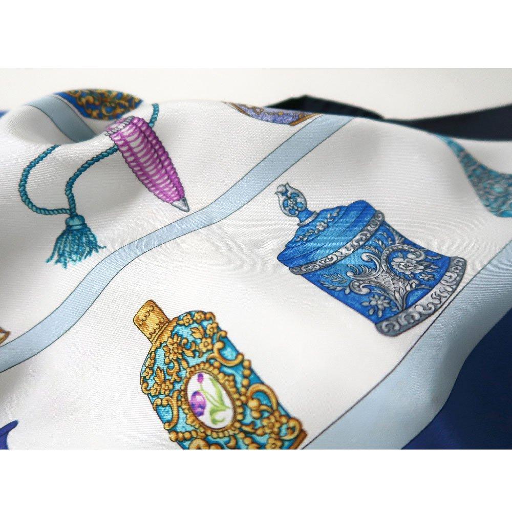 香水瓶 (CM5-329) 伝統横濱スカーフ 大判 シルクツイル スカーフの画像6
