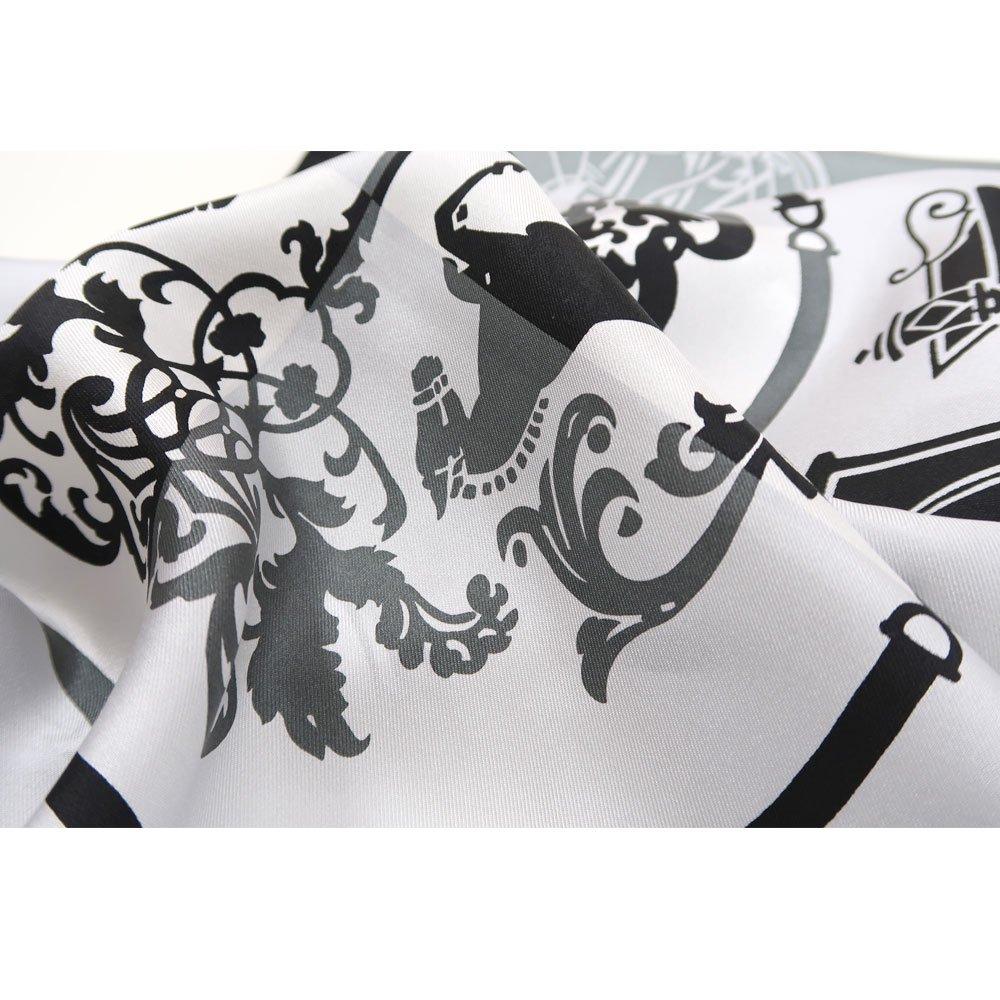 色面シルエット馬車 (FET-059) Marcaオリジナル 小判 シルクツイル スカーフの画像6