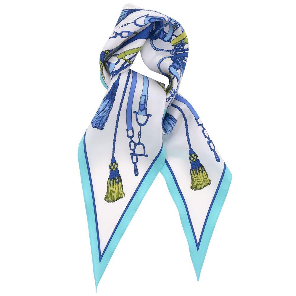 タッセル&チャーム 菱形スカーフ (FET-061) Marcaオリジナル シルクツイル スカーフ