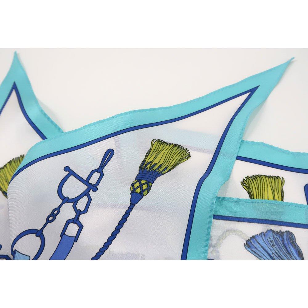 タッセル&チャーム 菱形スカーフ (FET-061) Marcaオリジナル シルクツイル スカーフの画像4