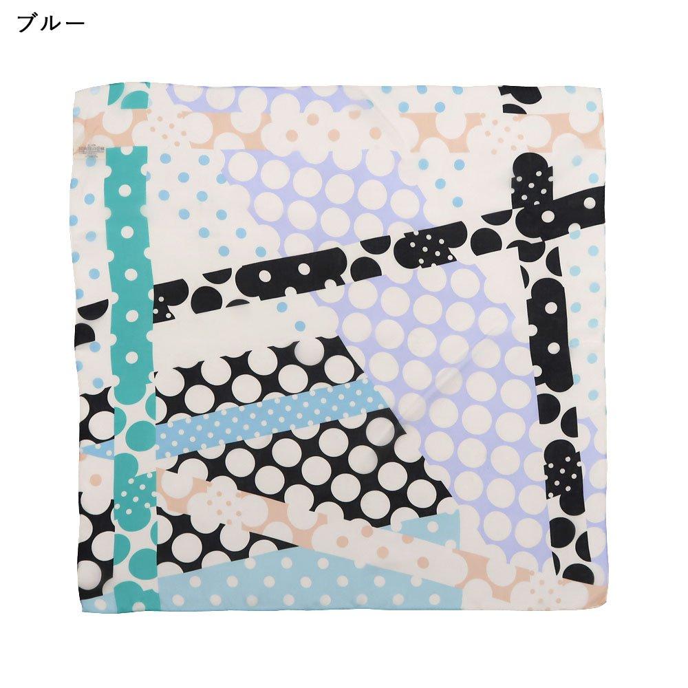パッチワークドット (FOT-062) Marcaオリジナル 小判 シルクローン スカーフの画像2