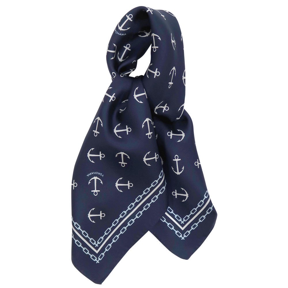 アンカーチェーン (BGB-318) 伝統横濱スカーフ 小判 シルクツイル スカーフの画像1