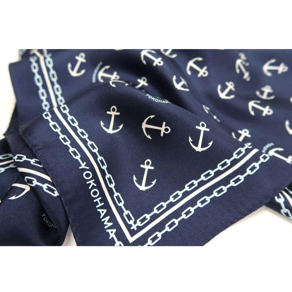 アンカーチェーン (BGB-318) 伝統横濱スカーフ 小判 シルクツイル スカーフの画像3