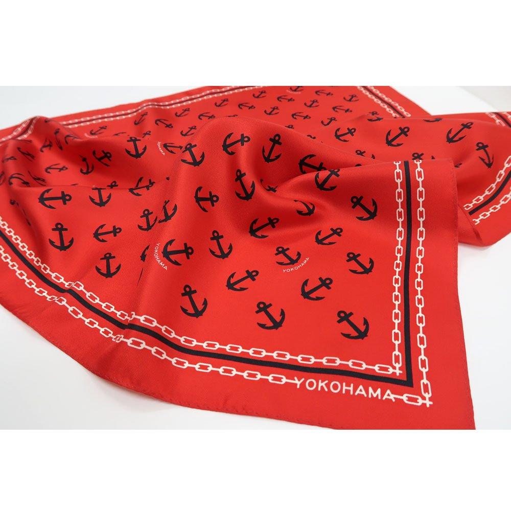 アンカーチェーン (BGB-318) 伝統横濱スカーフ 小判 シルクツイル スカーフの画像7