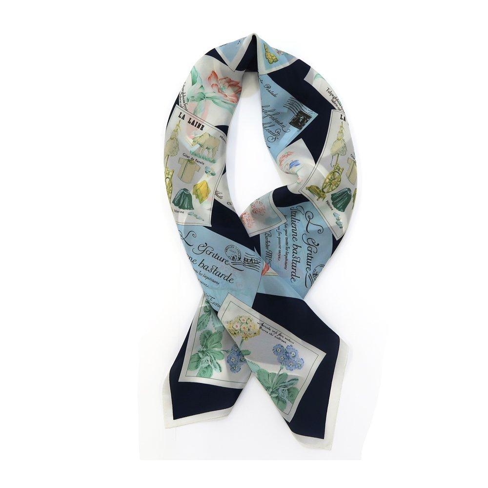 ポストカード (CM6-040) 伝統横濱スカーフ 大判 シルクデシン スカーフの画像4