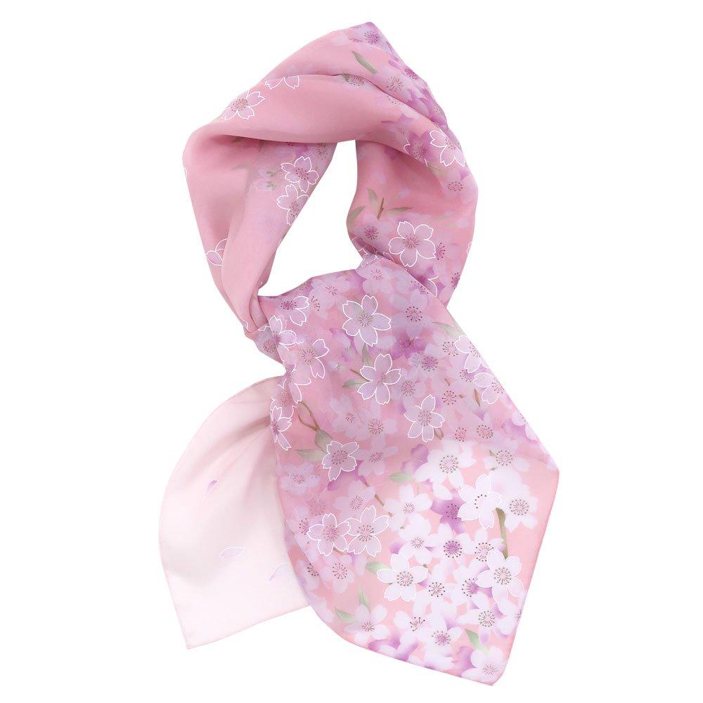 櫻花(CFD-020L) 伝統横濱スカーフ 大判 シルクローン スカーフの画像2