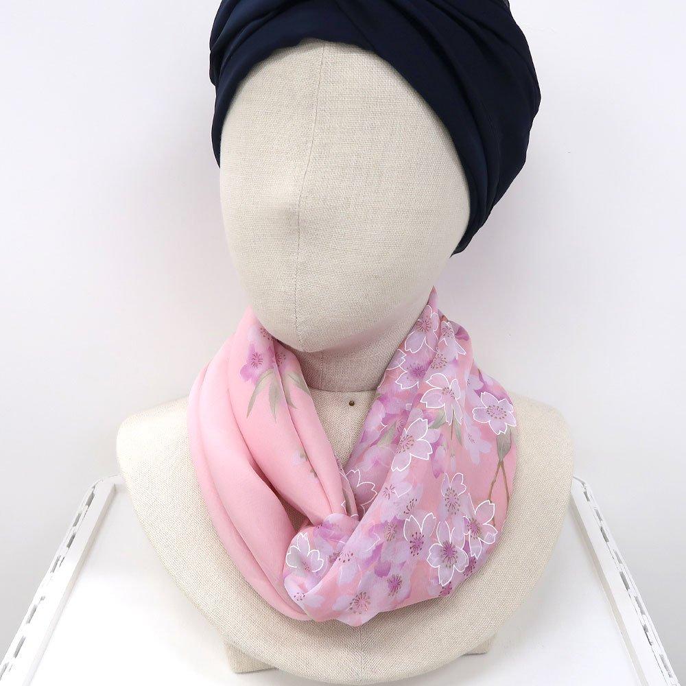 櫻花(CFD-020L) 伝統横濱スカーフ 大判 シルクローン スカーフの画像3