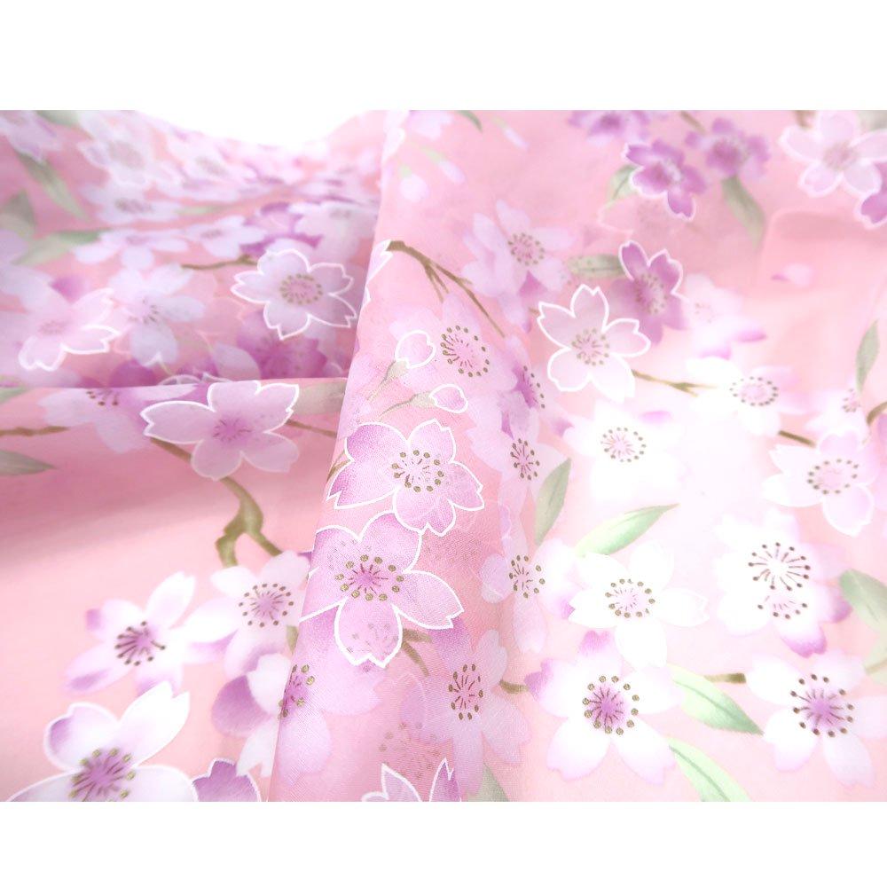 櫻花(CFD-020L) 伝統横濱スカーフ 大判 シルクローン スカーフの画像4