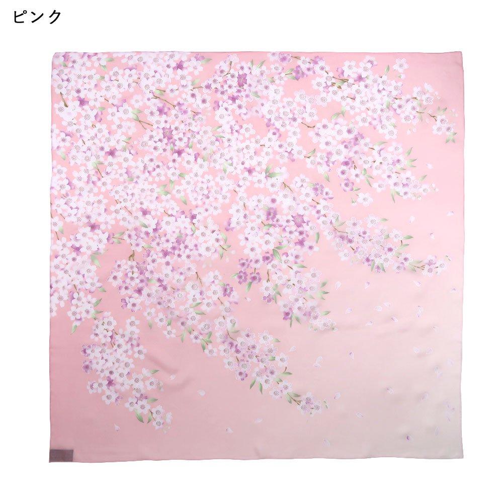 櫻花(CFD-020L) 伝統横濱スカーフ 大判 シルクローン スカーフの画像5
