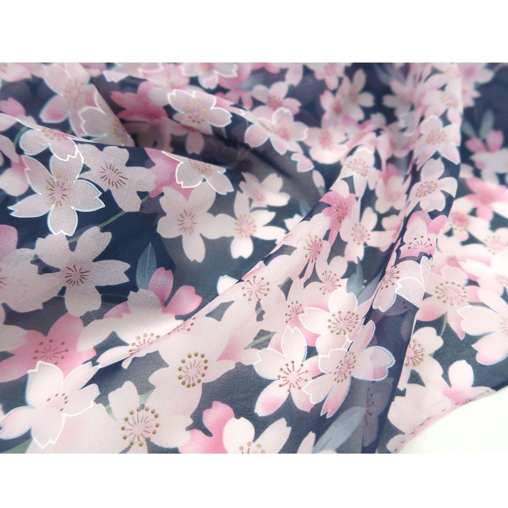 櫻花(CFD-020L) 伝統横濱スカーフ 大判 シルクローン スカーフの画像9