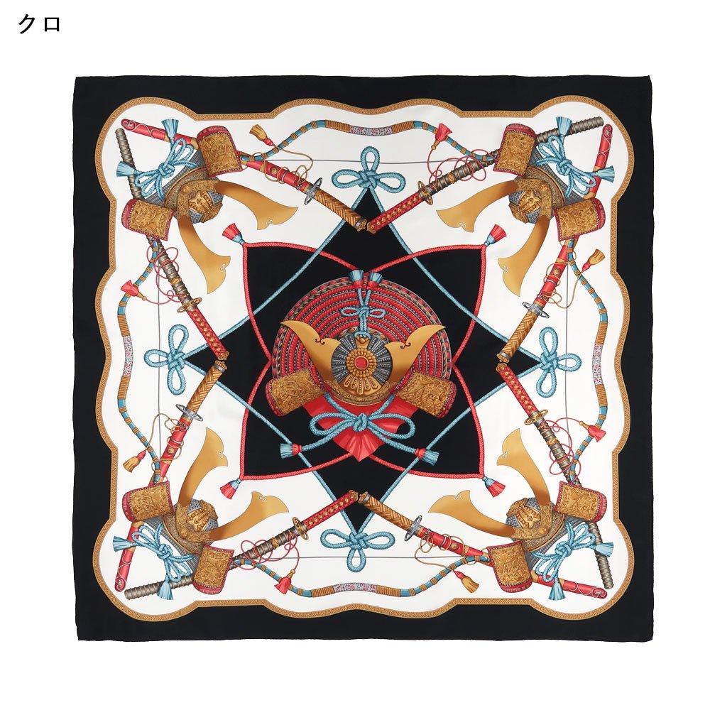 兜 弓と矢 太刀(CET-106) 伝統横濱スカーフ 大判 シルクスカーフの画像1