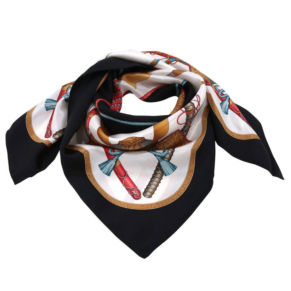 兜 弓と矢 太刀(CET-106) 伝統横濱スカーフ 大判 シルクスカーフの画像3