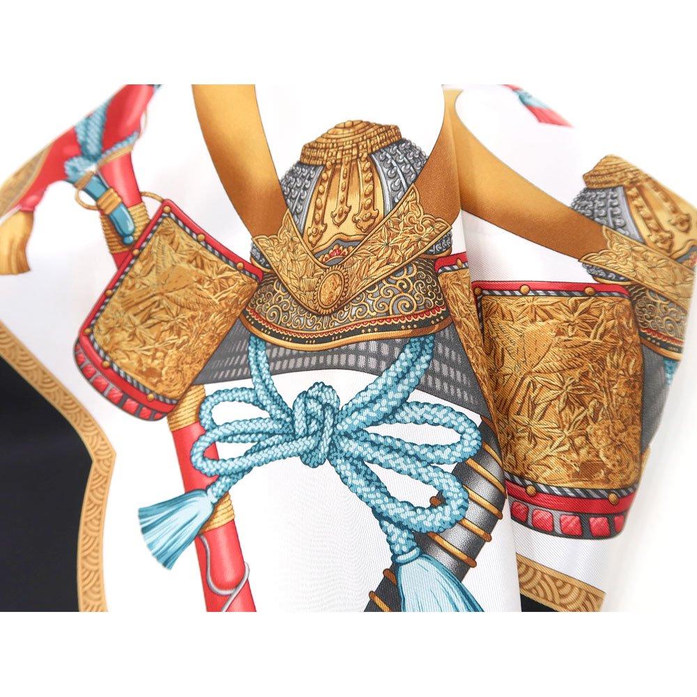 兜 弓と矢 太刀(CET-106) 伝統横濱スカーフ 大判 シルクスカーフの画像5