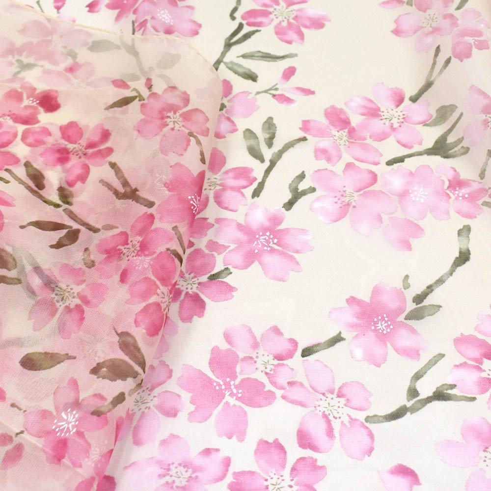 桜 (LMH-088) 伝統横濱スカーフ  シルクローン ロングスカーフの画像4
