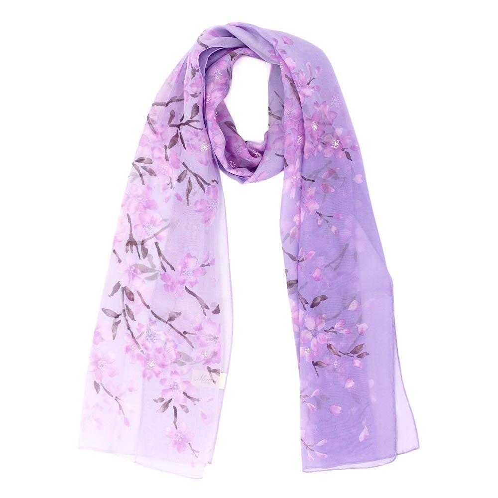 桜 (LMH-088) 伝統横濱スカーフ  シルクローン ロングスカーフの画像7