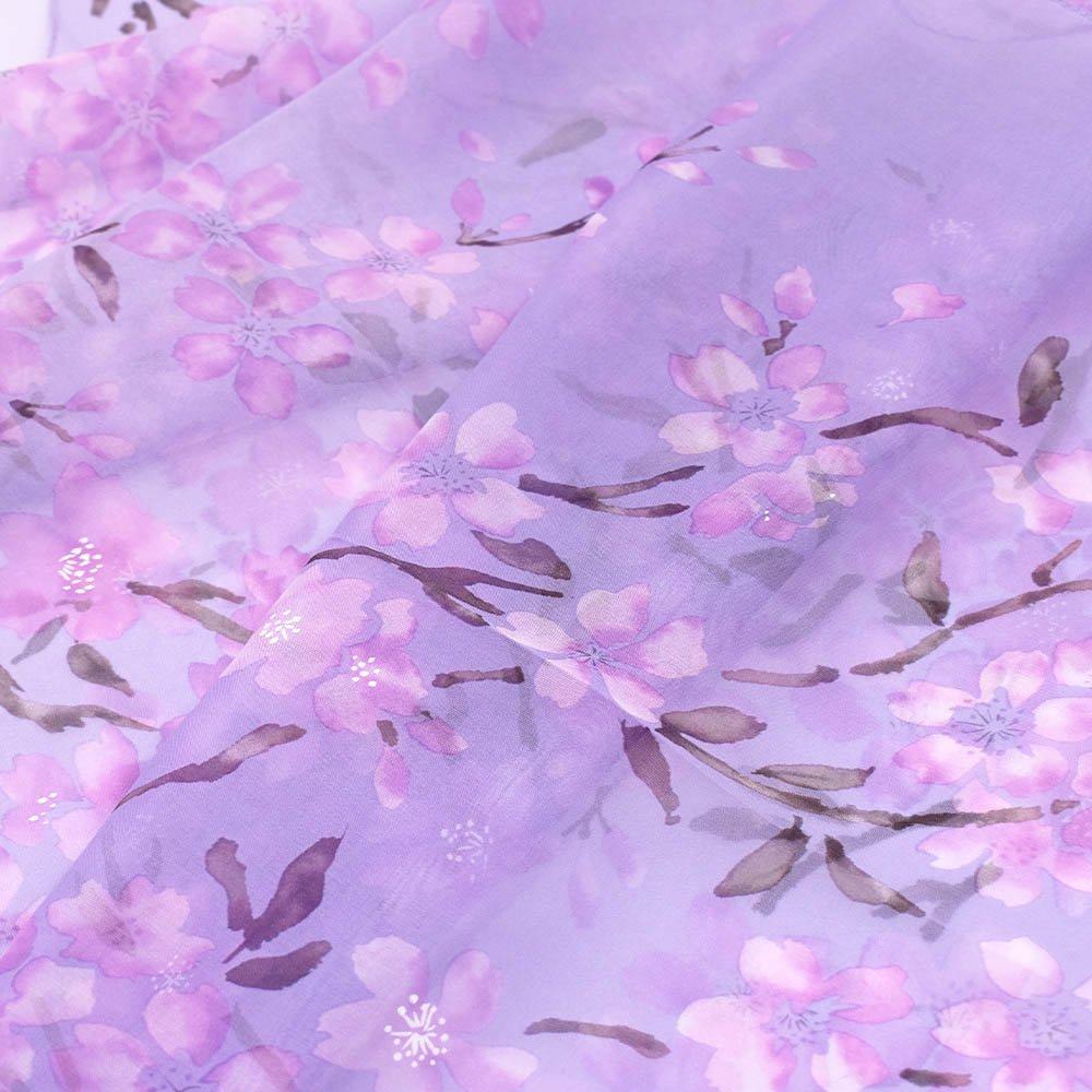 桜 (LMH-088) 伝統横濱スカーフ  シルクローン ロングスカーフの画像8