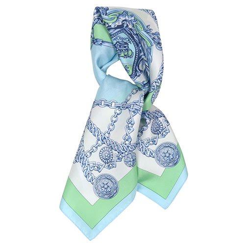チェーン (FET-055) 伝統横濱スカーフ 小判 シルクツイル スカーフ