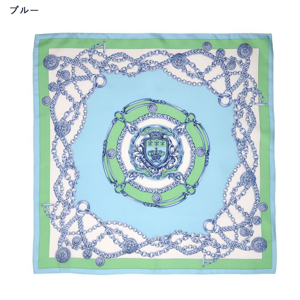 チェーン (FET-055) 伝統横濱スカーフ 小判 シルクツイル スカーフの画像2