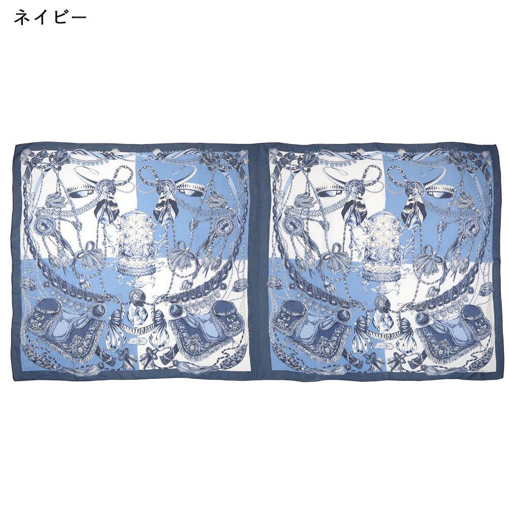 装飾馬具 (CET-051) 伝統横濱スカーフ 大判 シルクローン ストールの画像4