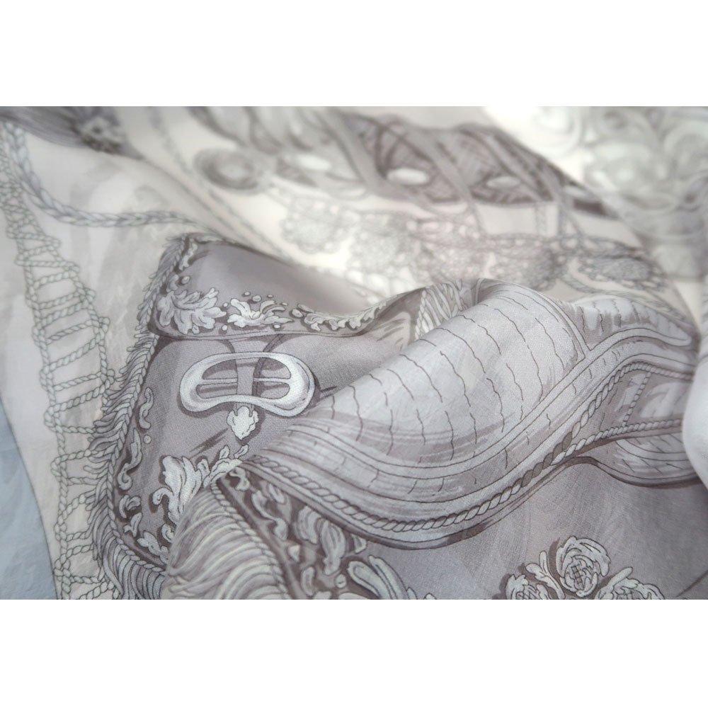装飾馬具 (CET-051) 伝統横濱スカーフ 大判 シルクローン ストールの画像6