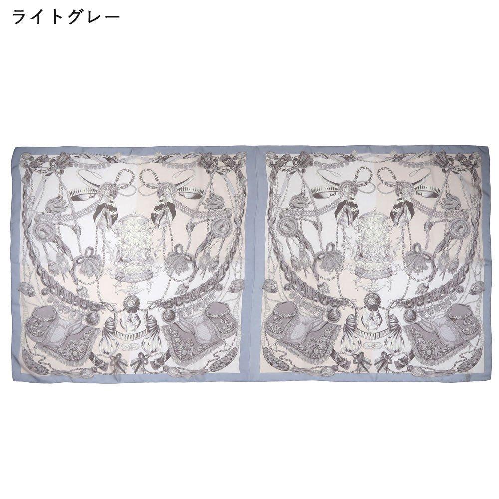 装飾馬具 (CET-051) 伝統横濱スカーフ 大判 シルクローン ストールの画像8