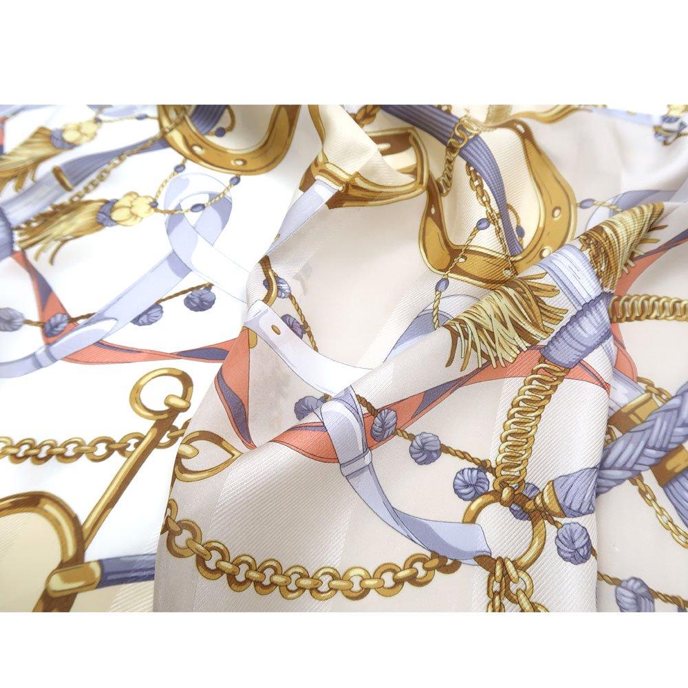 面割ステッキ&ベルト(CM5-806) Marcaオリジナル 大判 サテンストライプ スカーフの画像4