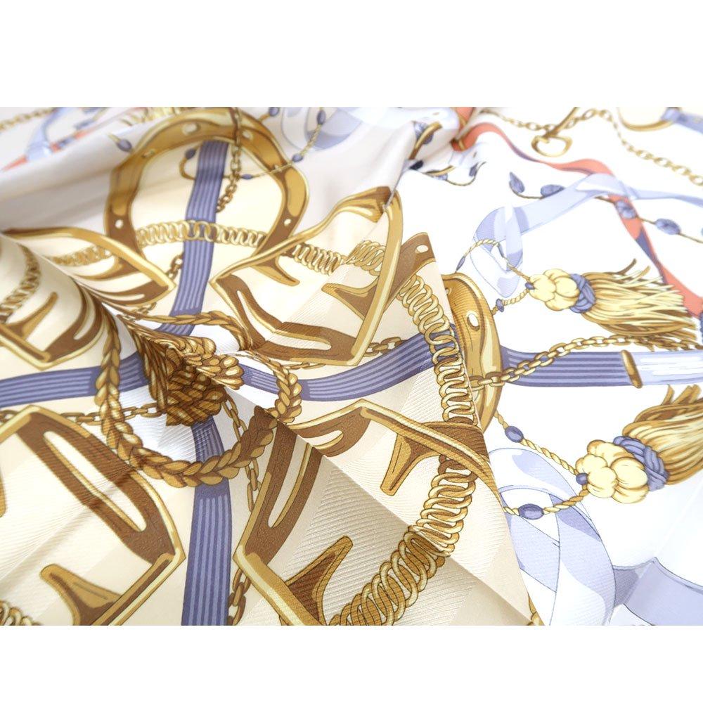 面割ステッキ&ベルト(CM5-806) Marcaオリジナル 大判 サテンストライプ スカーフの画像5