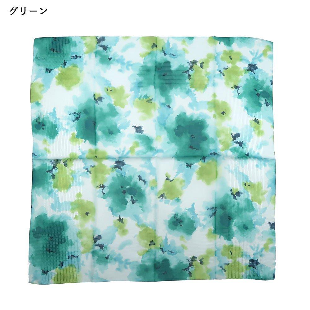 格子ヘムぼかし花(NFQ-012) Marcaオリジナル 大判 シルクローン スカーフの画像4